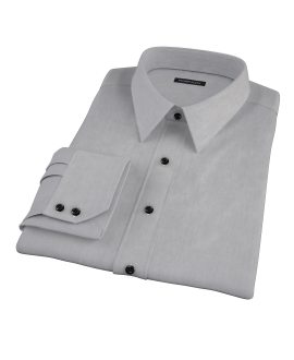 Jones Charcoal Grey End-on-End Fitted Shirt