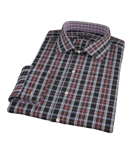 Whistler Maroon Plaid Dress Shirt