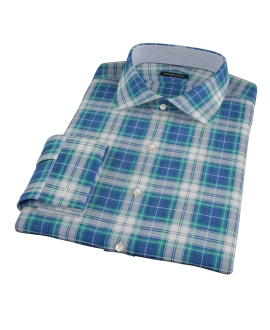 Blue Green Reversible Plaid Custom Made Shirt