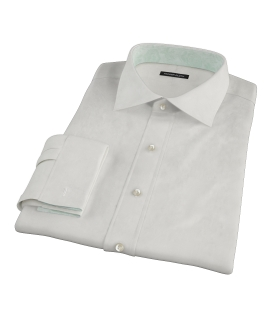 White Phantom Grid Fitted Dress Shirt