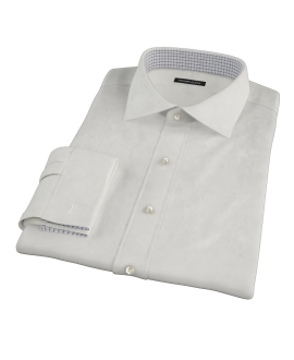 White Phantom Grid Custom Dress Shirt