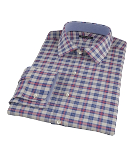 Blue and Orange Tartan Custom Made Shirt