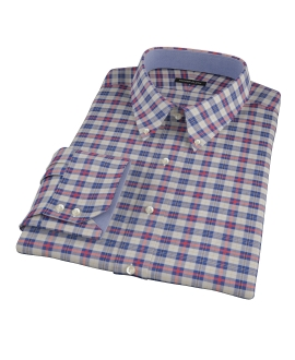 Blue and Orange Tartan Dress Shirt