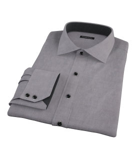 Charcoal Oxford Fitted Shirt 