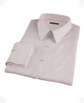 Pink 120s Rich Oxford Cloth Fitted Shirt