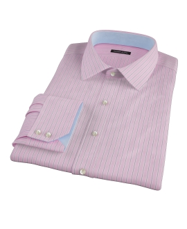 Pink and Navy Stripe Custom Made Shirt 