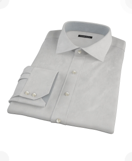 Light Gray End on End Tailor Made Shirt 