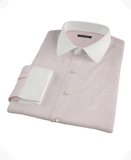 Pink 120s Rich Oxford Cloth Custom Made Shirt