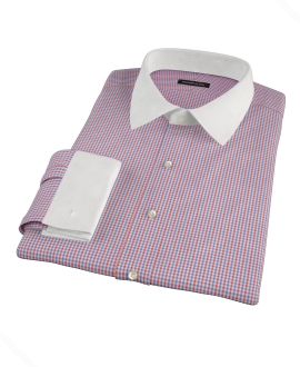 Canclini Red and Blue Multi Gingham Dress Shirt