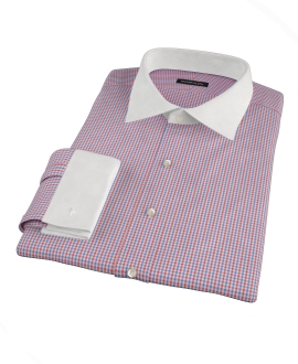 Canclini Red and Blue Multi Gingham Custom Made Shirt