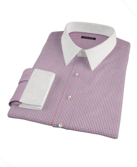 Canclini 120s Red Multi Gingham Custom Dress Shirt