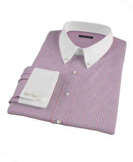 Canclini Red and Blue Multi Gingham Tailor Made Shirt