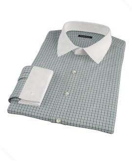 Canclini Green and Blue Multi Gingham Men's Dress Shirt