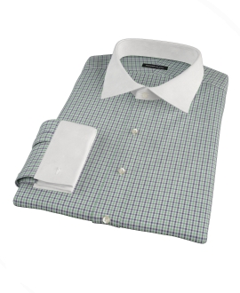 Green and Blue Mini Gingham Tailor Made Shirt 