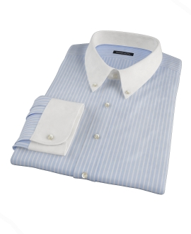 Light Blue Reverse Bengal Stripe Dress Shirt 