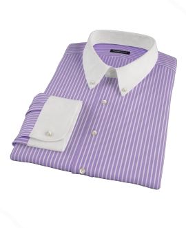 Purple Reverse Bengal Stripe Tailor Made Shirt