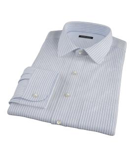 Rye Light Blue Bordered Stripe Dress Shirt
