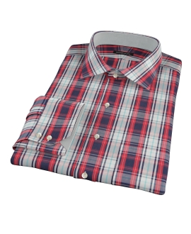 Large Red and Blue Plaid Custom Made Shirt 