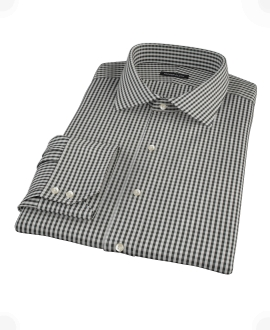 Small Black Gingham Tailor Made Shirt