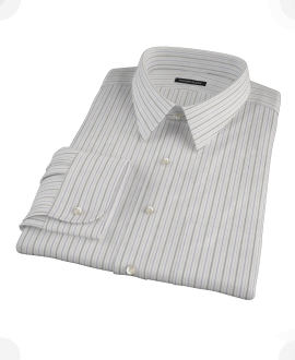 Lavender Charcoal Multi-stripe Men's Dress Shirt 