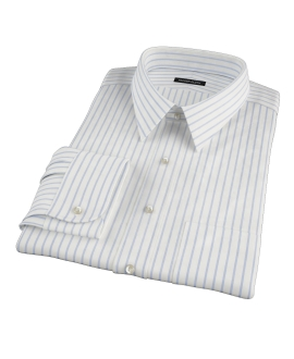 Blue Wide Stripe Tailor Made Shirt