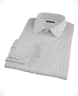 Lavender Charcoal Multi-stripe Custom Made Shirt 