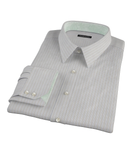 Tan and Blue Multi Stripe Custom Dress Shirt