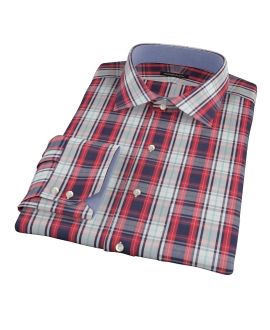 Large Red and Blue Plaid Tailor Made Shirt 