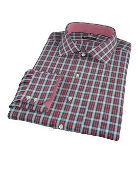 Red and Blue Block Plaid Custom Made Shirt