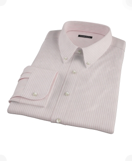 Pink University Stripe Pinpoint Custom Dress Shirt