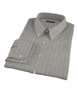 Black Glen Plaid Fitted Shirt