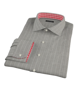 Black Glen Plaid Dress Shirt