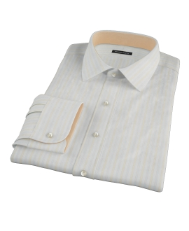 Blue and Yellow Stripe Fitted Dress Shirt