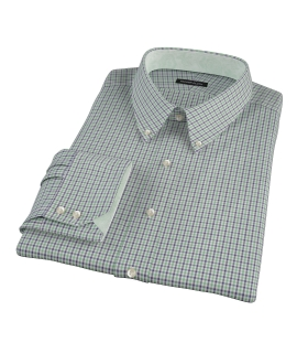 Canclini Green and Blue Mini Gingham Custom Made Shirt