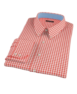 Red Gingham Fitted Shirt