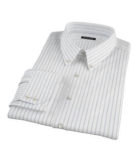 Blue Wide Stripe Custom Made Shirt