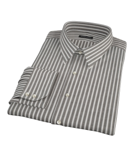 Black Stripe Fitted Dress Shirt