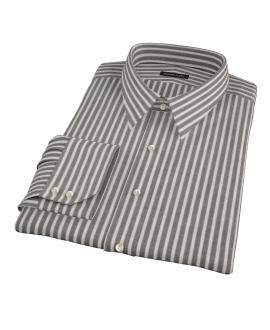 Black Stripe Fitted Dress Shirt