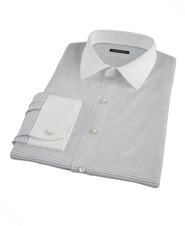 Coffee &amp; Blue Check Tailor Made Shirt 