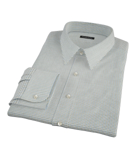 Green and Blue Check Custom Made Shirt
