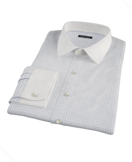 Light Blue Check Men's Dress Shirt 