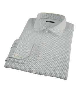 Green and Blue Check Dress Shirt