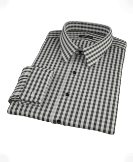 Black Classic Gingham Custom Made Shirt
