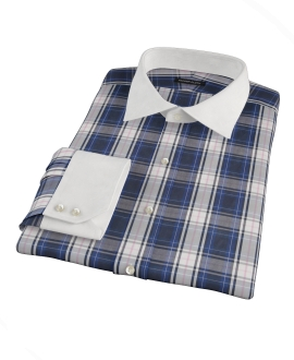 Large Blue and Pink Plaid Tailor Made Shirt