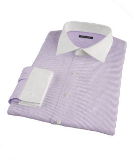 Lavender Small Grid Custom Dress Shirt