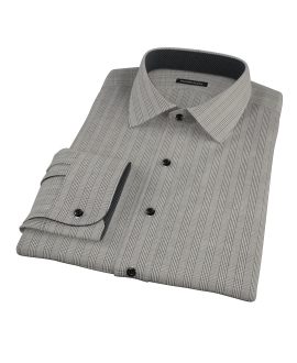 Black Glen Plaid Fitted Dress Shirt
