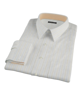 Blue and Yellow Stripe Fitted Shirt
