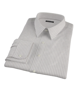 Japanese Lavender and Gray Stripe Tailor Made Shirt