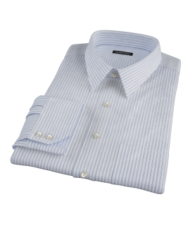 Greenwich Light Blue Bordered Stripe Custom Made Shirt