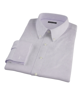 Lavender End on End Fitted Dress Shirt 